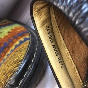 Born Shoes - Born Women's Wool & Leather Clogs/Mules, SZ 7